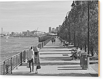 Wood Print featuring the photograph Old Montreal by Cendrine Marrouat