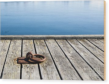 Wood Print featuring the photograph Old Mooring Loop by Kennerth and Birgitta Kullman