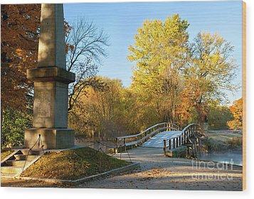 Old North Bridge Wood Print by Brian Jannsen