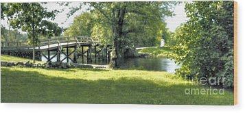 Old North Bridge Wood Print by Nigel Fletcher-Jones