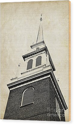 Old North Church In Boston Wood Print by Elena Elisseeva