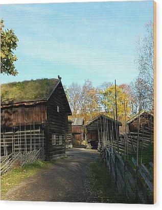 Old Norwegian Houses Wood Print