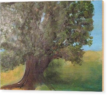 Old Oak Wood Print by Andrea Friedell