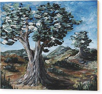 Old Olive Tree Wood Print by Anastasiya Malakhova