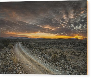 Old Ore Road Sunset Wood Print