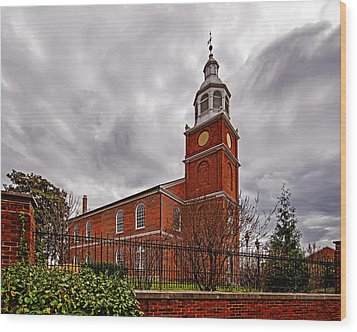 Old Otterbein Country Church Wood Print by Bill Swartwout