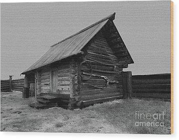 Old Peasant House 2 Wood Print by Evgeniy Lankin