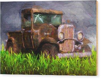 Old Pickup Wood Print by Bob Orsillo