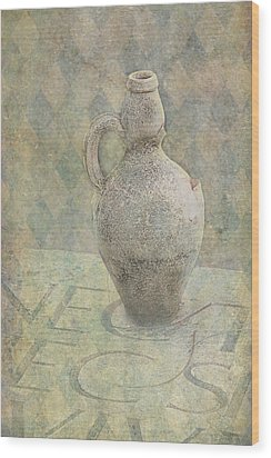 Old Pitcher Abstract Wood Print by Garry Gay