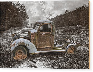 Old Plymouth Wood Print by Debra and Dave Vanderlaan