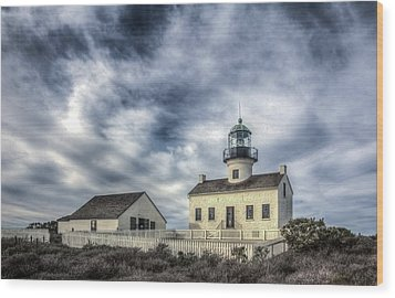 Old Point Loma Lighthouse Wood Print by Kelly Marquardt