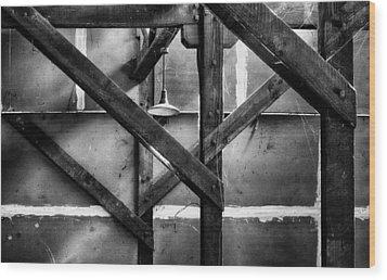 Old Rafters Wood Print