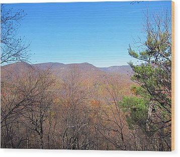 Old Rag Hiking Trail - 121219 Wood Print by DC Photographer