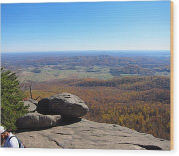 Old Rag Hiking Trail - 121227 Wood Print by DC Photographer