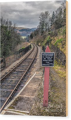 Old Railway Sign Wood Print by Adrian Evans