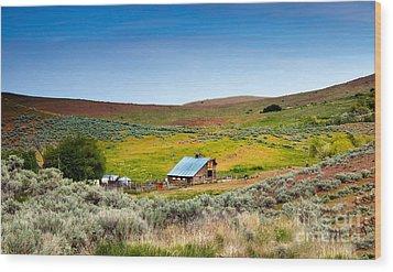 Old Ranch Wood Print by Robert Bales