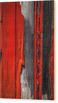 Old Red Barn Four Wood Print by Bob Orsillo