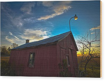 Wood Print featuring the photograph Old Red by Jason Naudi Photography