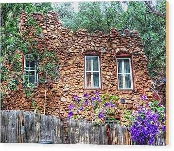 Wood Print featuring the photograph Old Rock House In Williams Canyon by Lanita Williams
