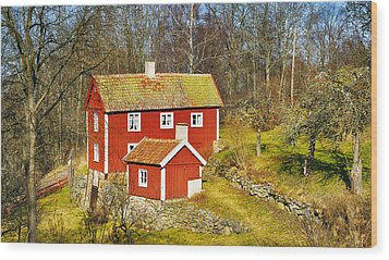 Wood Print featuring the photograph Old Rural 16th Century Cottage by Christian Lagereek
