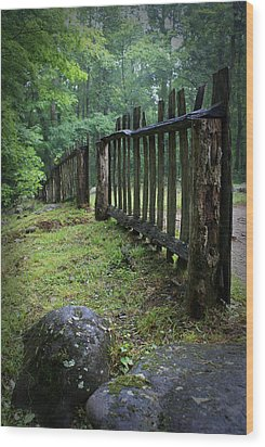 Old Rustic Fence Wood Print