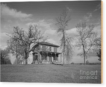 Old Rustic House On A Hill Wood Print