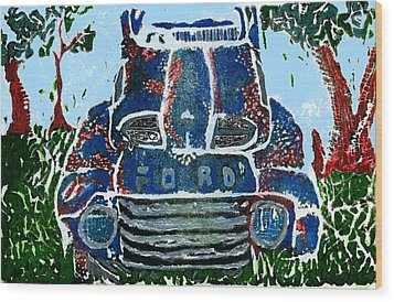 Old Rusty Ford Wood Print by Jame Hayes