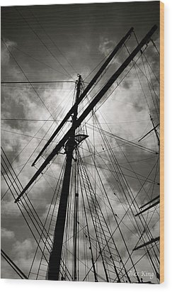 Wood Print featuring the photograph Old Sailing Ship by Alex King
