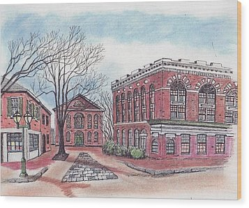 Old Salem City Hall Wood Print by Paul Meinerth