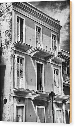 Old San Juan Architecture Wood Print by John Rizzuto