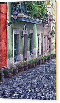 Old San Juan Puerto Rico Wood Print by Thomas R Fletcher