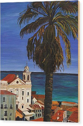 Old San Juan Ruerto Rico  Wood Print by Impressionism Modern and Contemporary Art  By Gregory A Page