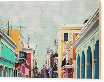 Old San Juan Special Request Wood Print by Kim Fearheiley