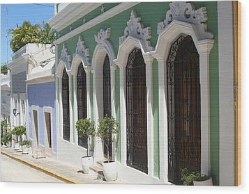 Old San Juan Street Wood Print by The Art of Alice Terrill