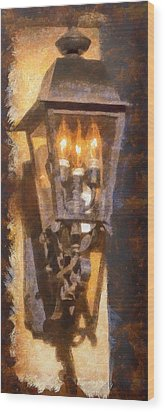 Old Santa Fe Lamp Wood Print by Michael Flood