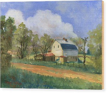 Old Saunders Barn Wood Print by Jeff Brimley
