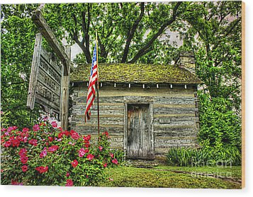 Old School House Wood Print by Darren Fisher