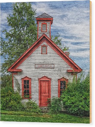 1892 Summit School House Version 3 Wood Print