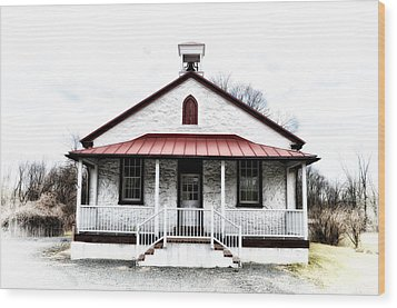 Old Schoolhouse Chester Springs Wood Print by Bill Cannon