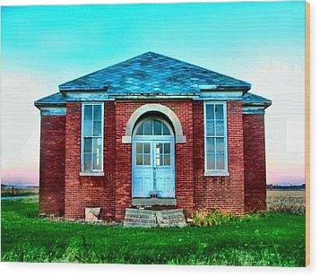 Old Schoolhouse Wood Print by Julie Dant
