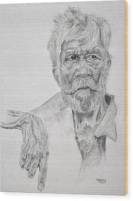 Old Seaman Wood Print by Glenn Calloway