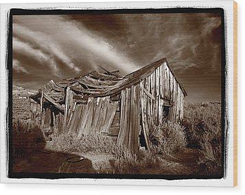 Old Shack Bodie Ghost Town Wood Print by Steve Gadomski