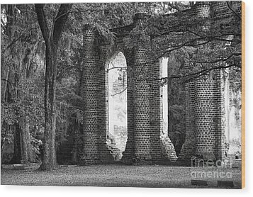 Old Sheldon Church Side View Wood Print