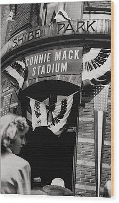 Old Shibe Park - Connie Mack Stadium Wood Print by Bill Cannon