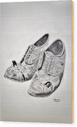 Old Shoes Wood Print by Glenn Calloway