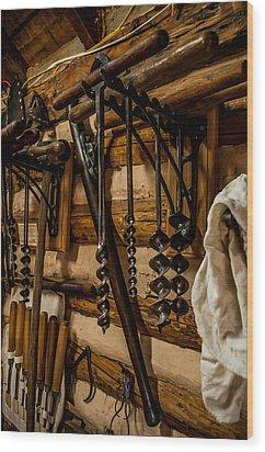 Old Shop Wood Print