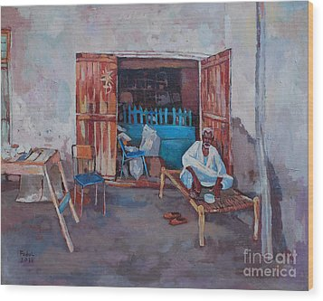Old Shop Suakin Wood Print by Mohamed Fadul