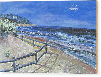 Wood Print featuring the painting Old Silver Beach by Rita Brown