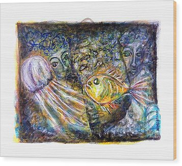 Old Souls Of Atlantis Wood Print by Mimulux patricia no No