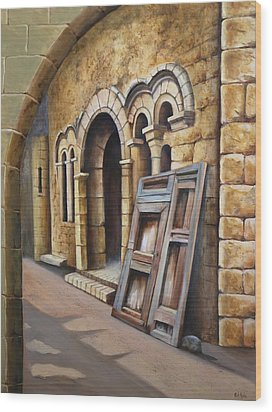 Old Spanish Monastery Wood Print by Rich Kuhn